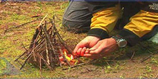 افروختن آتش در طبیعت