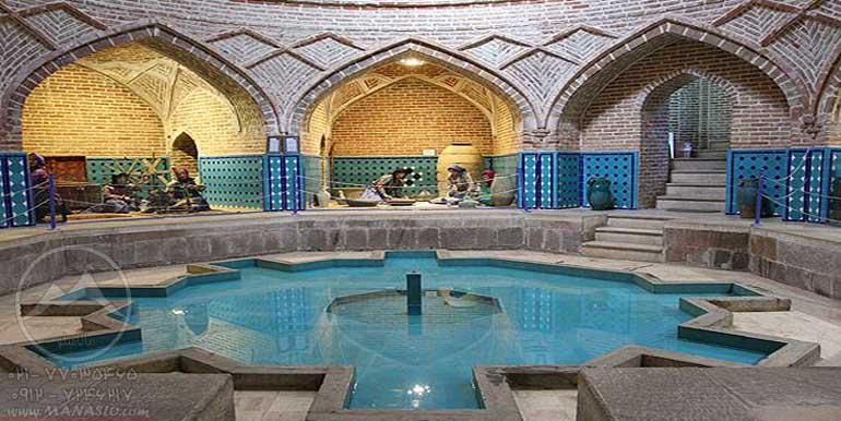 حمام قجر قزوین طبیعتگردی با ماناسلو