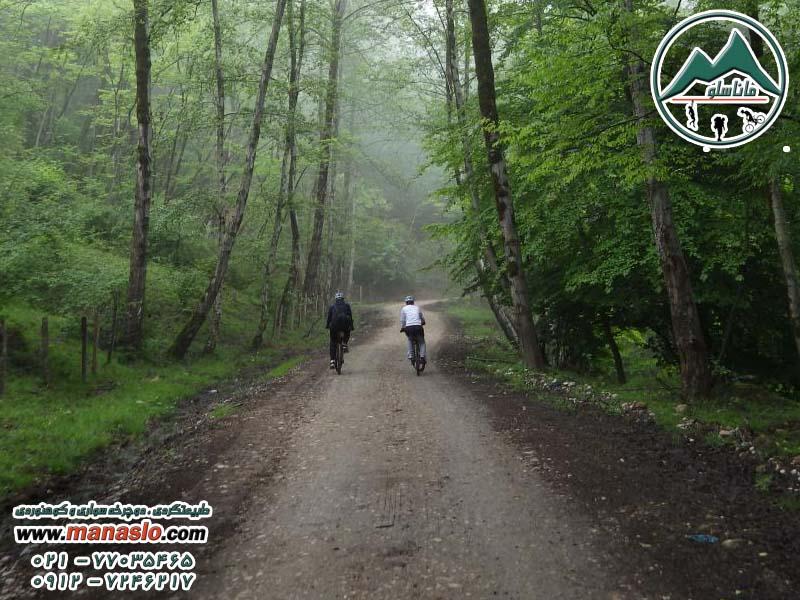 تور دوچرخه سواری جنگل سنگده